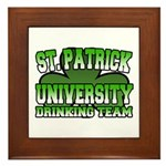 St. Patrick University Drinking Team Framed Tile