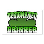 Designated Drinker Rectangle Sticker