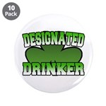"Designated Drinker 3.5"" Button (10 pack)"