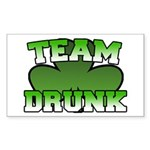 Team Drunk Rectangle Sticker