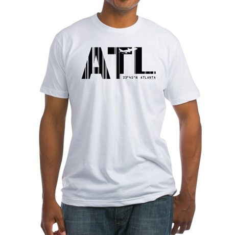 Atlanta Airport Code ATL Georgia Fitted T-Shirt