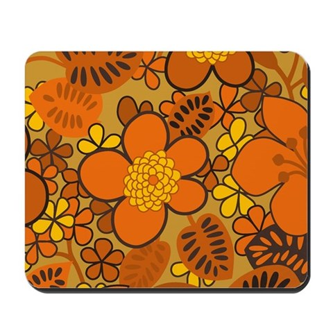 if you love 1960s hippie art  this groovy retro floral print is just right