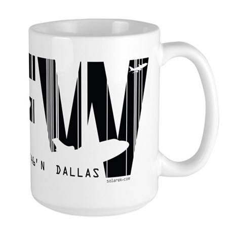 Dallas Texas DFW Air Wear Large Mug