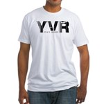 Vancouver Canada YVR Air Wear Fitted T-Shirt