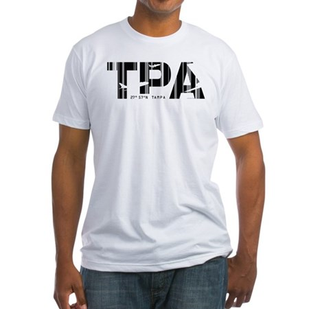 Tampa Florida TPA Air Wear Fitted T-Shirt