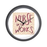 Nurse in the Works Wall Clock