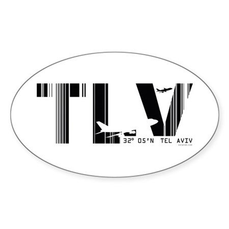 Tel Aviv TLV Airport Israel Oval Sticker