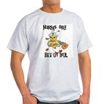 Nurses Are Bee-utiful Light T-Shirt