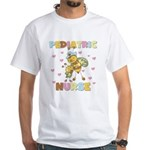 Bee Pediatric Nurse White T-Shirt