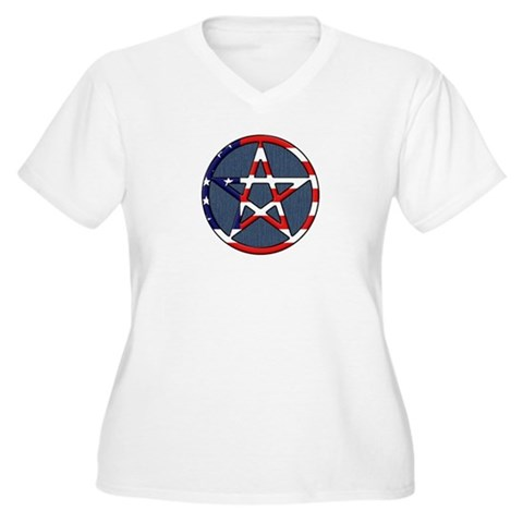 American Wicca Pentagram T-Shirt by mywiccanway- 281376905