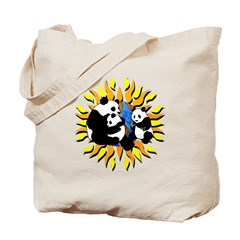 Panda Bear Family Tote Bag
