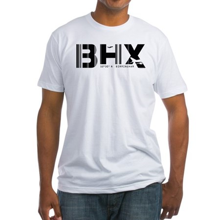 Birmingham England Airport Code BHX Fitted T-Shirt