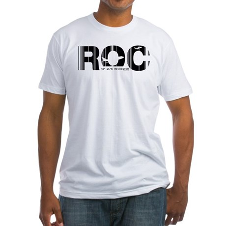 Rochester Airport Code ROC New York Fitted T-Shirt