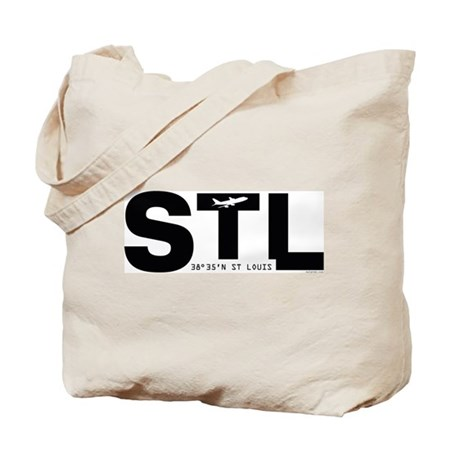 St. Louis Airport Missouri STL Black Des Tote Bag