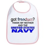 Got Freedom? Navy (Mother) Bib