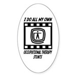 Occupational Therapy Stunts Oval Sticker (10 pk)