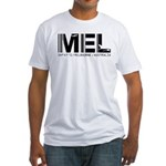 Melbourne AirportCode Australia MEL Fitted T-Shirt