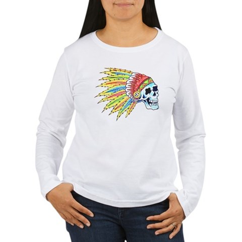 Indian Chief Skull Tattoo T-Shirt