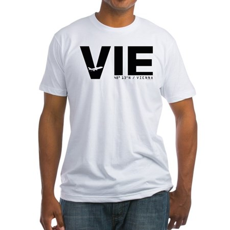 Vienna Airport Austria VIE Black Fitted T-Shirt