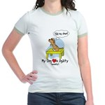 Refusing Down Agility Jr. Ringer T-Shirt