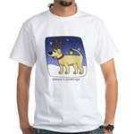 Reindeer Yellow Lab TShirt (Cartoon)
