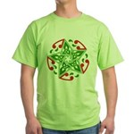 Celtic Christmas Star Green T-Shirt
