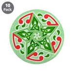 "Celtic Christmas Star 3.5"" Button (10 pack)"