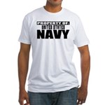 Property of US Navy Fitted T-Shirt