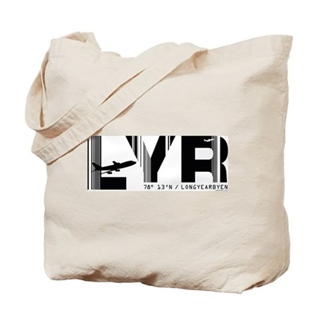 Longyearbyen Airport Code Norway LYR Tote Bag