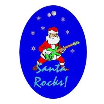 Santa Rocks Ornament