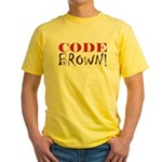 Code Brown! Yellow T-Shirt