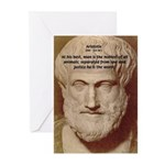 Greek Philosophers: Aristotle Greeting Cards (Pack