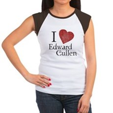 I Love Edward Cullen Womens Cap Sleeve T-Shirt