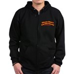 Cut the Cheese Zip Hoodie (dark)