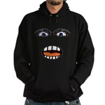 Shocked Cartoon Face Hoodie (dark)