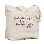 Edward Heart Twilight Tote Bag
