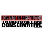 Conservative Constitution Bumper Sticker