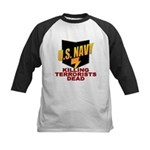 U.S. Navy Kills Terrorists Kids Baseball Jersey