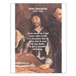 Philosopher: Rene Descartes Small Poster