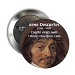 "Philosopher Rene Descartes 2.25"" Button (10 pack)"