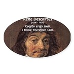 Philosopher Rene Descartes Oval Sticker