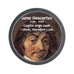 Philosopher Rene Descartes Wall Clock