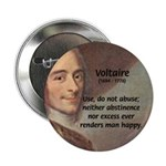 "French Philosopher: Voltaire 2.25"" Button (10 pack"