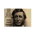 Henry David Thoreau Rectangle Magnet (100 pack)