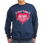 Heart Belongs Twilight Sweatshirt (dark)