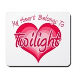 Heart Belongs Twilight Mousepad