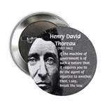 "Philosophy / Nature: Thoreau 2.25"" Button (100 pac"
