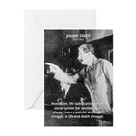 Joseph Stalin Revolution Greeting Cards (Package o