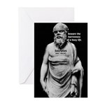 Socrates: Wisdom from Leisure Greeting Cards (Pack