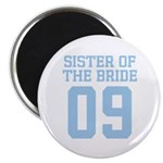"Sister of Bride 09 2.25"" Magnet (10 pack)"